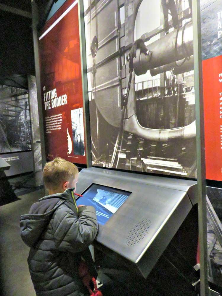 My son loved the interactive touch screen exhibits throughout the Titanic Belfast museum that helped tell the story of the Titanic.