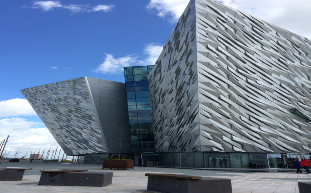 Titanic Belfast's distinct architecture is reminiscent of the ship.