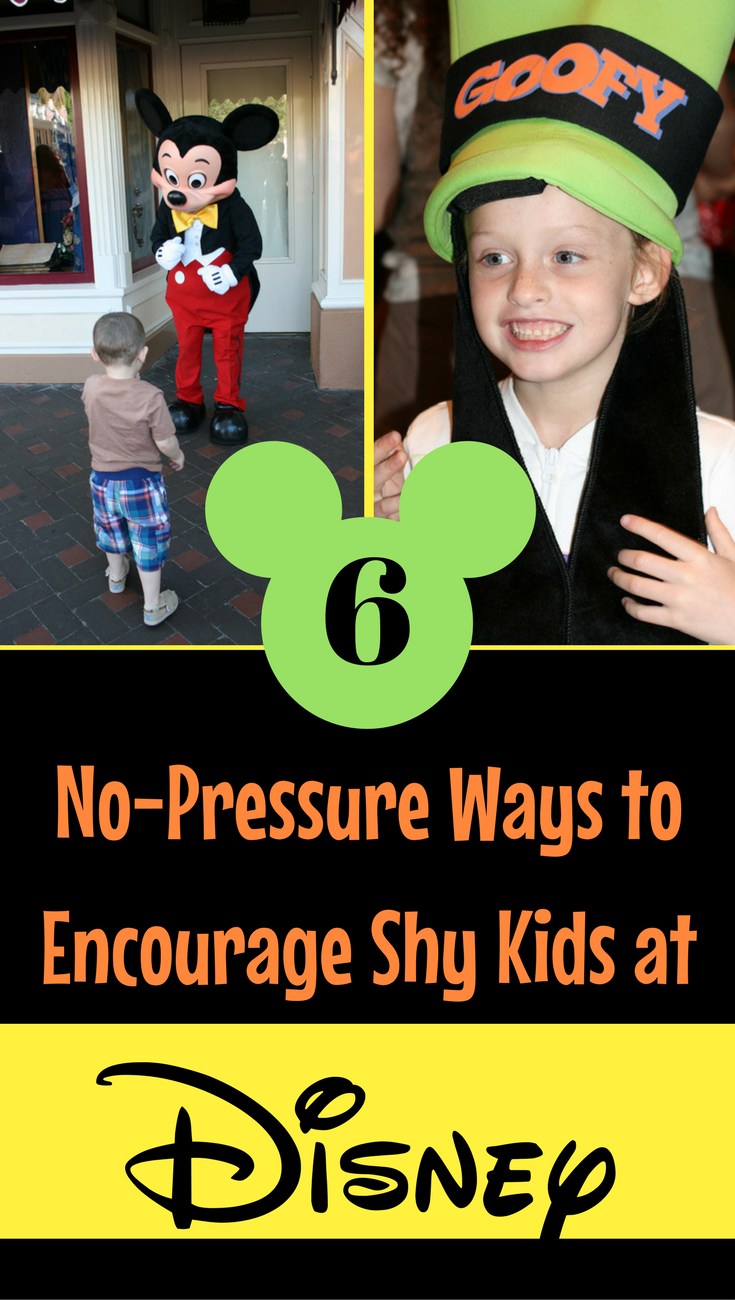 Are your Kids nervous or shy Disney? Read these 6 no-pressure ways to encourage them to have fun in the Disney Parks.