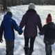 Winter fun in the Poconos -- taking a hike at Manor Sports.