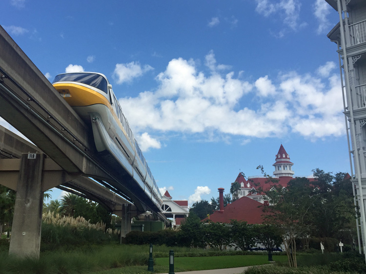 Monorail Yellow is one way to get around or you can rent a car at Disney World.