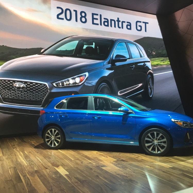 Innovation at the Chicago Auto Show: Hyundai Elantra has the first remote automated rear window and side mirror defrost.
