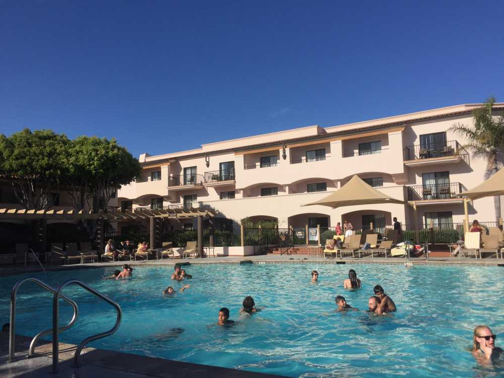 A beach and an Olympic-sized pool make the Fess Parker Resort perfect for outdoorsy families.