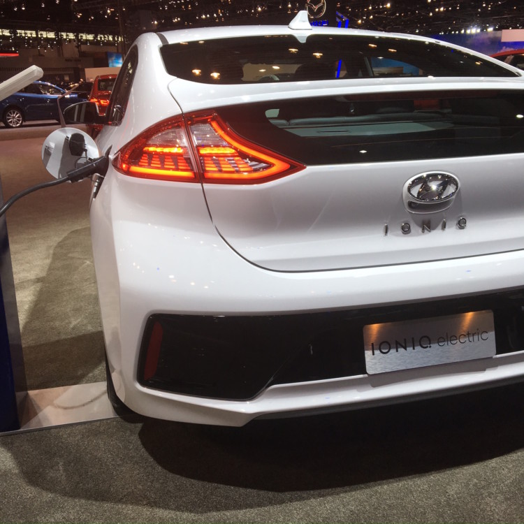 "Hyundai's new Ionic has ""smart cruise control"" technology. See it at the Chicago Auto Show."