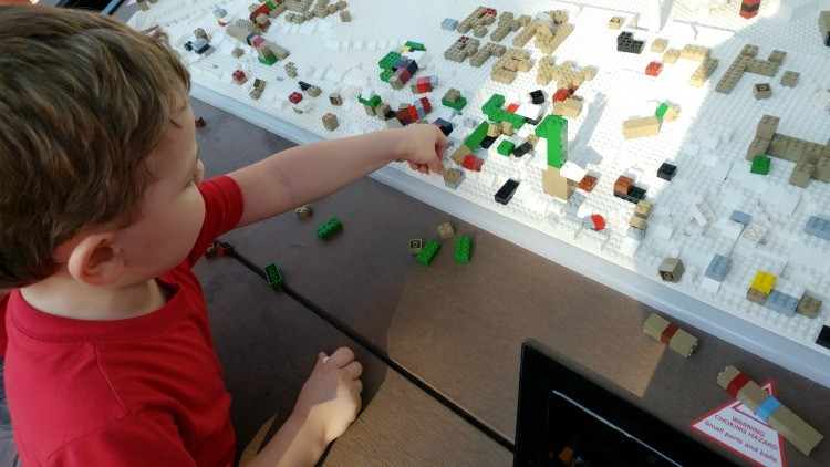 LEGOLAND Florida Resort encourages kids to build at several LEGO stations throughout the park and hotel