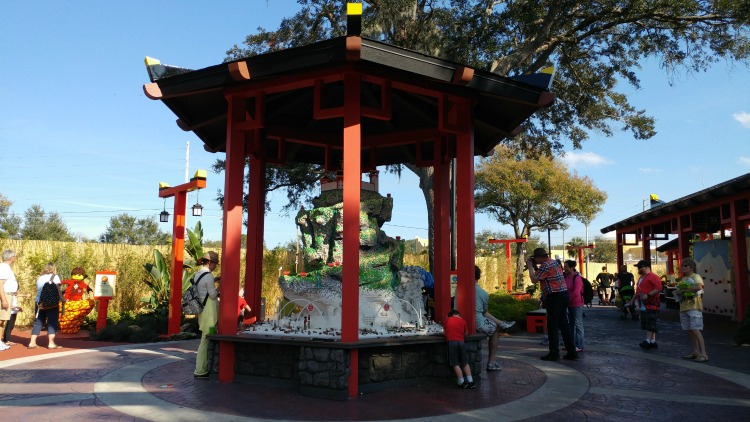 A favorite LEGO building spot at LEGOLAND Park: the Ninjago Monastery exhibit