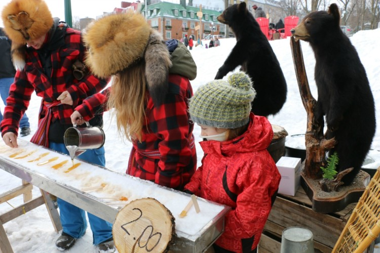 Make sure and sample some maple taffy. Winter Carnaval in Quebec City is two weeks of games and gatherings on ice! Read why your family should visit of this walled city, 20 miles over the border.
