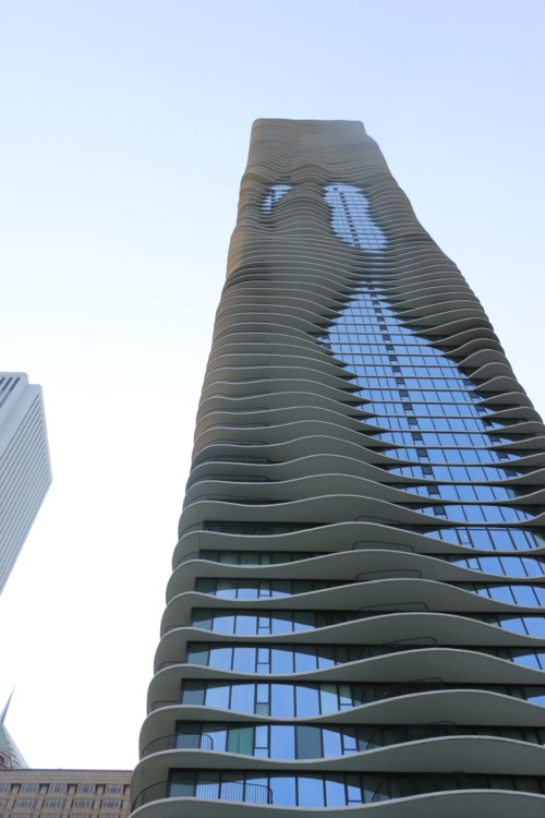 The architecturally stunning Radisson Blu Aqua, along Chicago's lakefront. It was a great place to stay for the Chicago Auto Show.