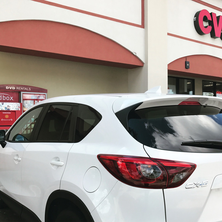 Getting to the pharmacy is easy when you rent a car at Disney World.