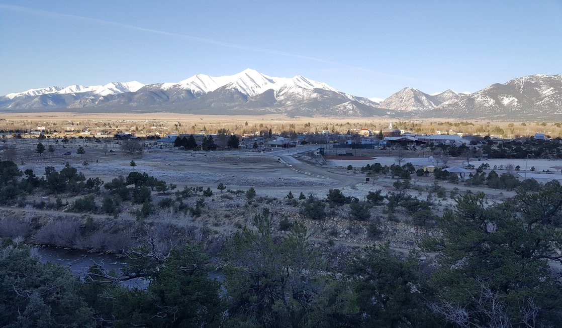 A stunning view of downtown Buena Vista Colorado, the perfect spot for our couples getaway.