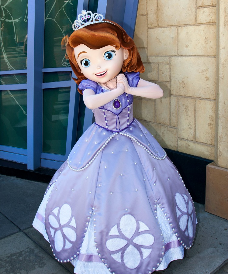 Princess Sofia, is now greeting guests in Hollywood Land at Disney California Adventure park in Anaheim, Calif. Princess Sofia is an adventurous little girl who is learning how to adjust to royal life after her mom marries the king and she becomes a princess overnight.