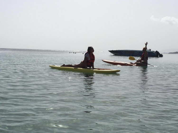 Yoga on a paddleboard at a weekend wellness retreat and the start to a lifestyle reset.