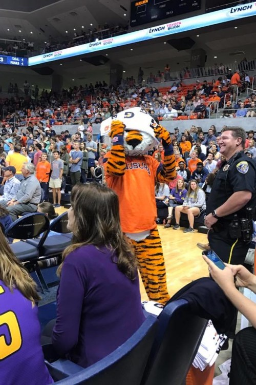 March Madness travel is fun, especially when there are team mascots involved!