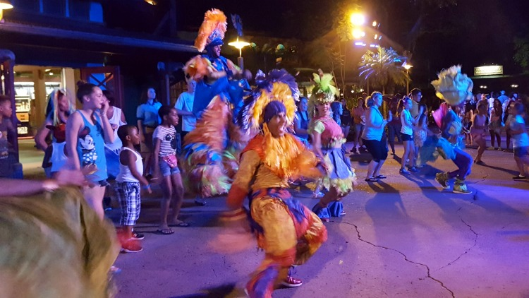Visit Animal Kingdom at night and join in the Discover Island Carnivale