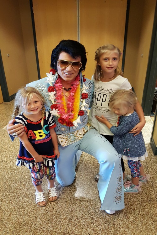 Elvis Presley with young children, a fun activity for kids in Branson