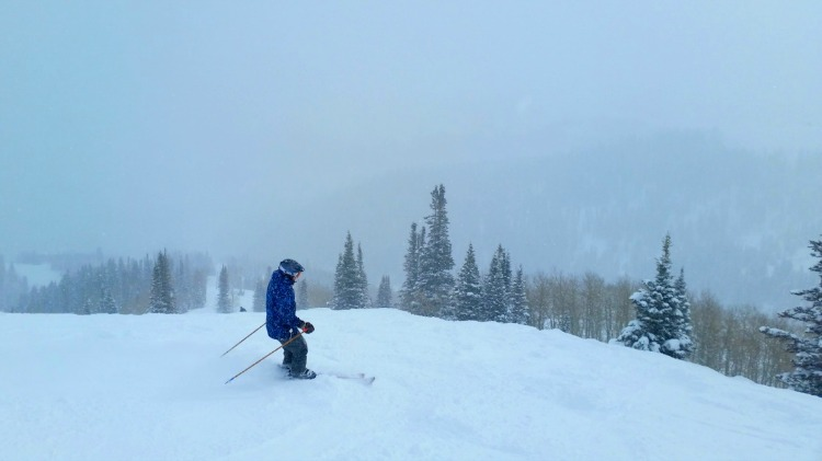 Groomed trails at Deer Valley Resort in Park City Utah, sit on a base of 13' of snow!