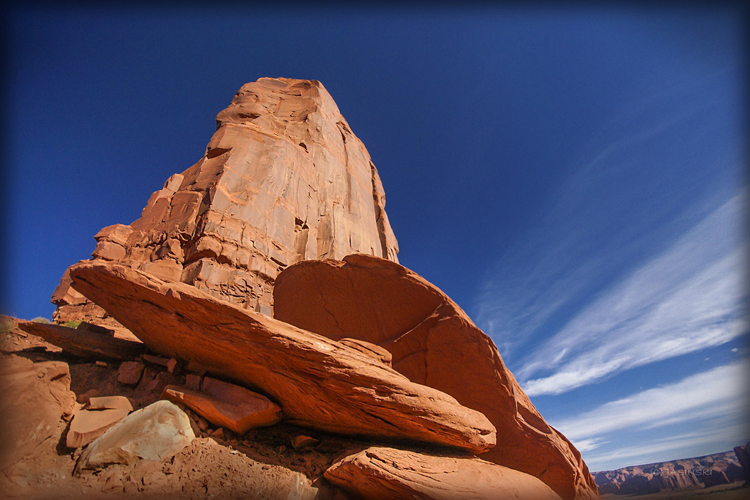 Monument Valley's stunning red rock sculptures.
