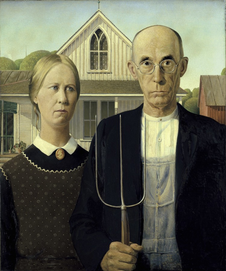 """American Gothic"" is one of the masterpieces on exhibit at the Art Institute of Chicago."