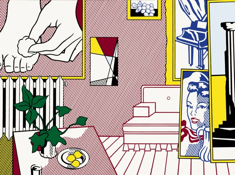 Art by Roy Lichtenstein is among the contemporary art on exhibit at the Art Institute of Chicago.