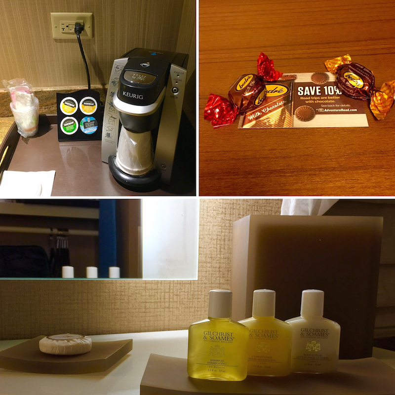 Enjoy nightly chocolates and coffee in your room at the Chickasaw Retreat and Conference Center.