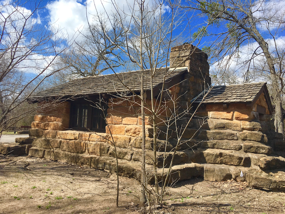 Explore the CCC buildings in Oklahoma's Chickasaw National Recreation Area with families.