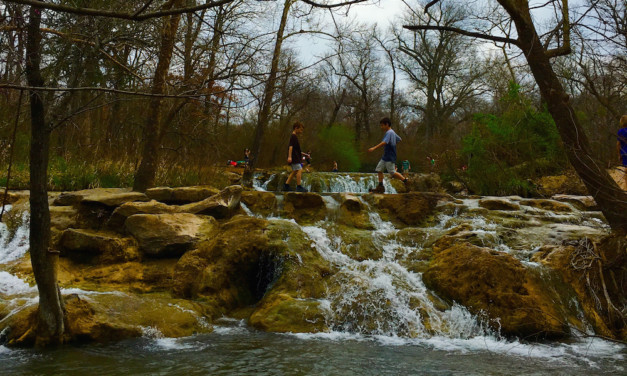 Cannonball in a Natural Pool at Chickasaw