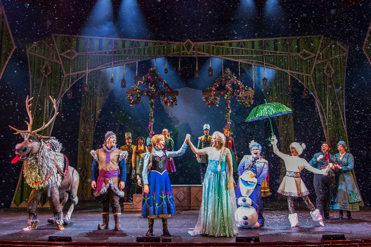 Disney Cruise Line's show aboard the Disney Wonder: Frozen, a Musical Spectacular