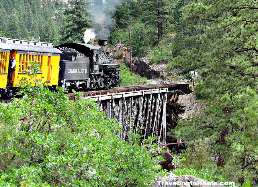 Aboard the Durango Silverton Narrow Gauge Railroad with amazing and scary Colorado train travel views!