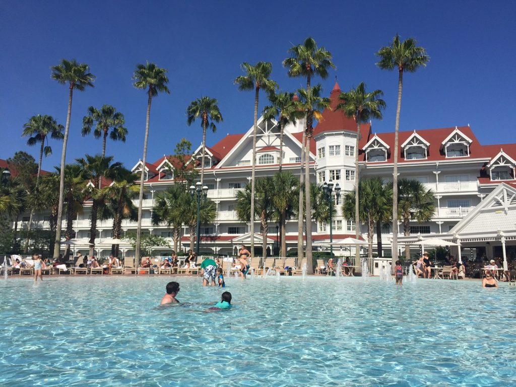 The pool at Disney's Grand Floridian, one of the best Florida resorts for families.