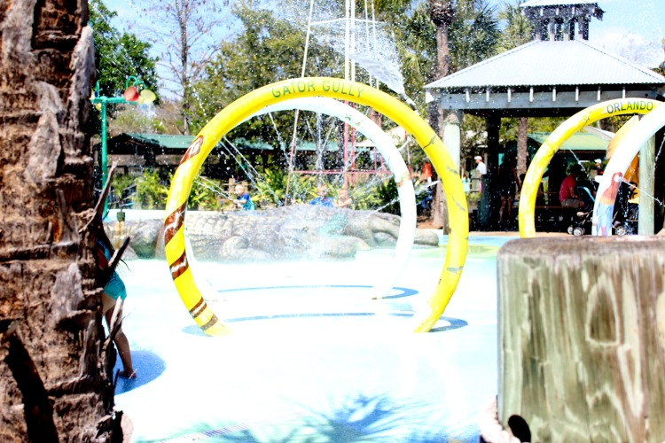Gator Gully Splash Park is a great place for kids to cool off at Gatorland Orlando.