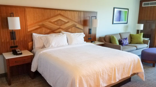 King room at the Hilton Garden Inn Kauai | photo credit: Kimberly Tate / Active TravelingMom