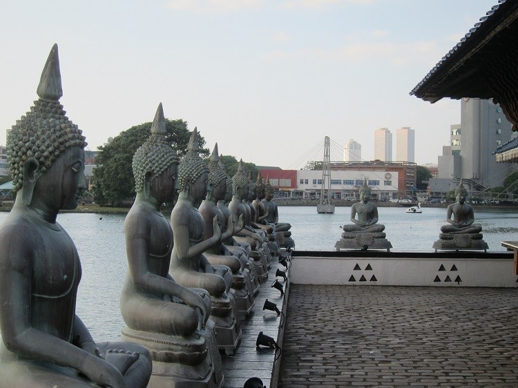 Visit Sri Lanka and include a visit to the Statues of Lord Buddha at the Gangarama Temple, in Colombo,.