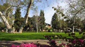 Claremont, California has a college campus, restaurants, shops, and galleries