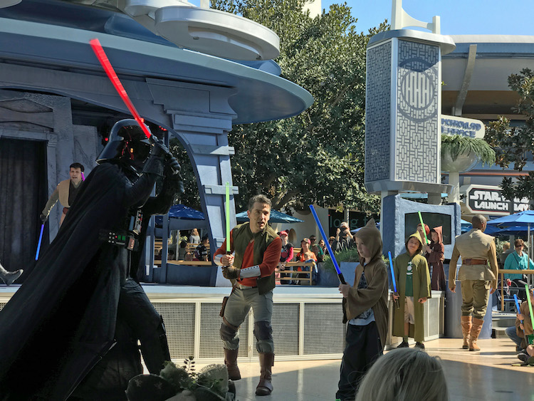Star Wars at Disneyland: Jedi Training: Trials of the Temple.