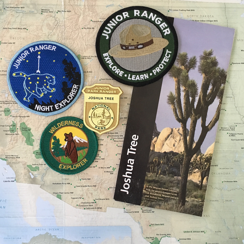 Joshua Tree, a California national park, offers several Junior Ranger programs.