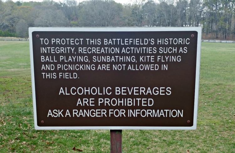 The field at Kennesaw Mountain National Battlefied park looks like the perfect place for fun - until you are reminded of what happened there and the need to respect and preserve history.
