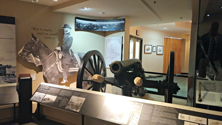 The museum at Kennesaw Mountain National Battlefield Park is full of Civil War information and items found on the battlefield.