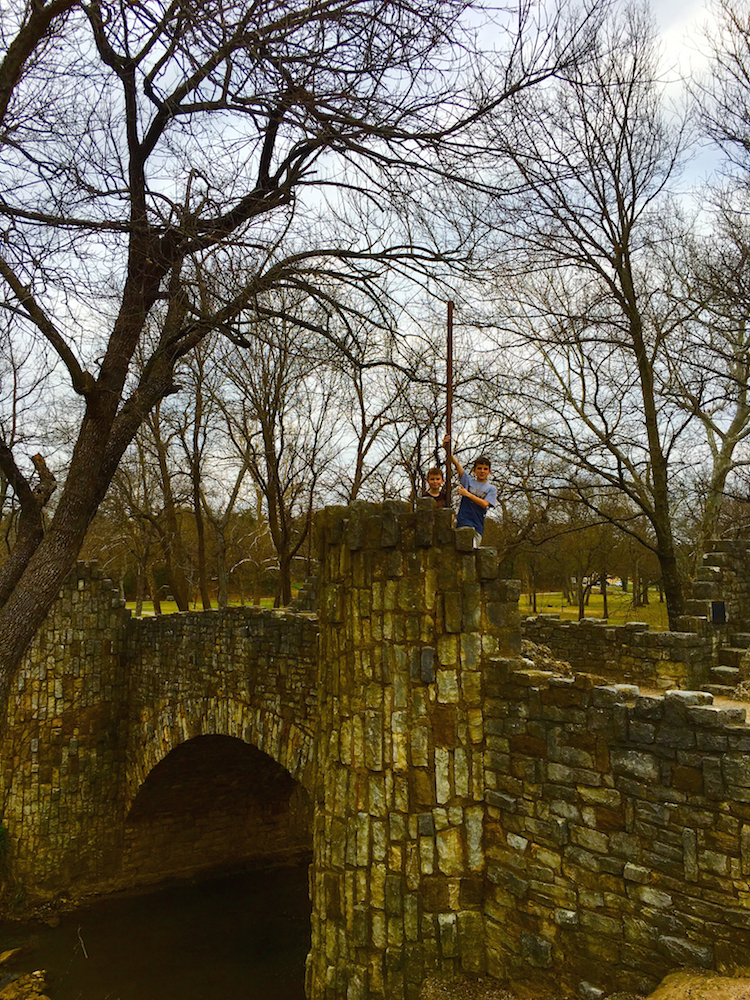 Explore Lincoln Bridge in Chickasaw National Recreation Area with families.