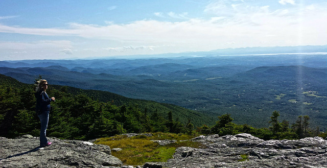 View from Mount Mansfield Toll Road on our northeast USA road trip