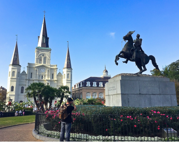 Jackson Square in the heart of the French Quarter in New Orleans New Orleans beckons with history, music, and FOOD. One of many states we feature in this list of Southeast road trip destinations