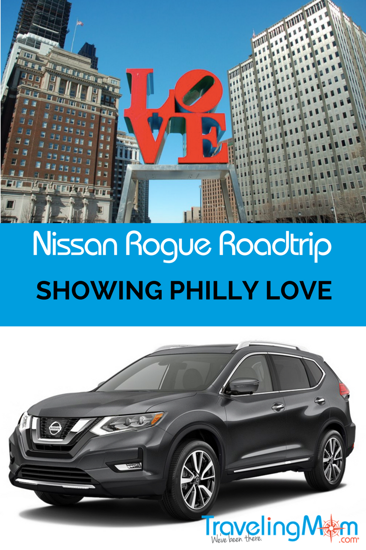 The Nissan Rogue is perfect for a trip to Philadelphia