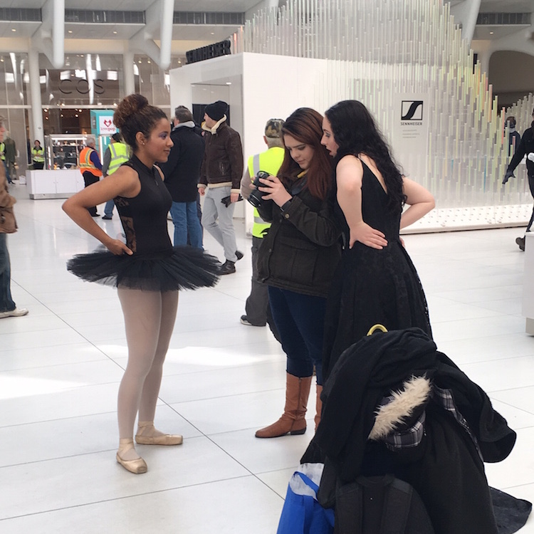With natural light streaming into the World Trade Center transportation hub's Oculus Hall, selfies and photo shoots abound.