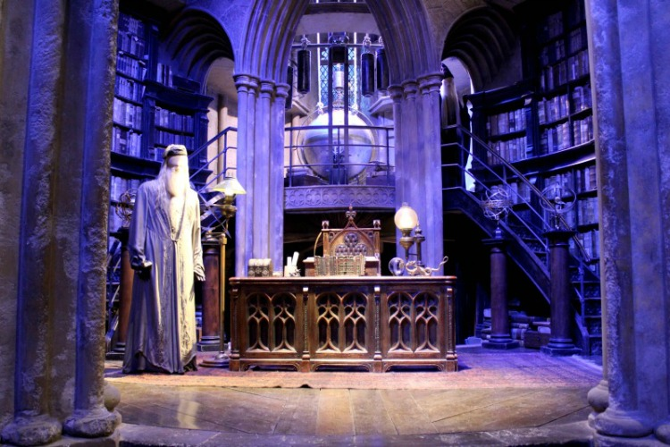 You'll see Dumbledore's office on the Harry Potter Studios Tour