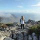 Standing atop Table Mountain in Cape Town, South Africa.