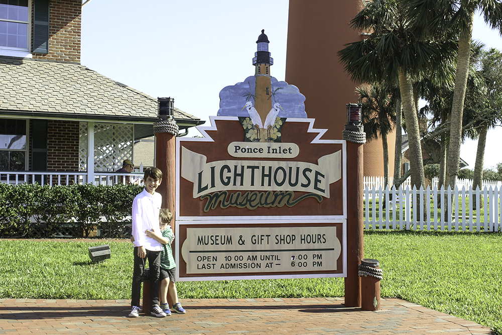The Ponce Inlet Lighthouse Museum in Daytona Beach is a fun history lesson for kids.