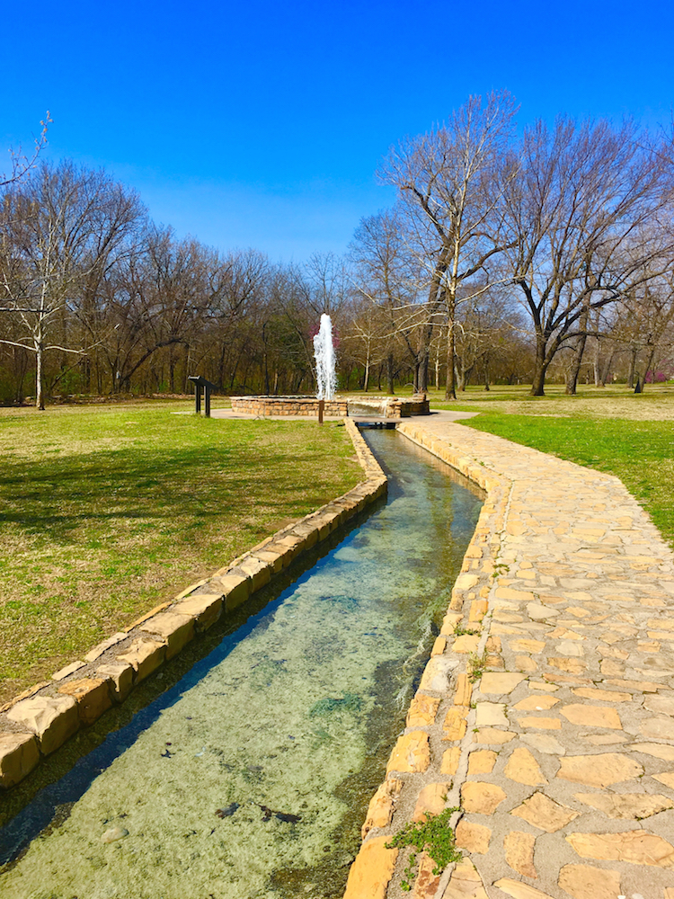 Explore Vendome Well in Chickasaw National Recreation Area with families.