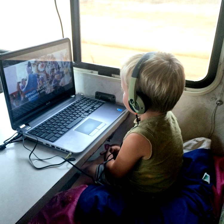 Laptops are a great travel hack, for routing, education and even movies - it's a great RV Tip.