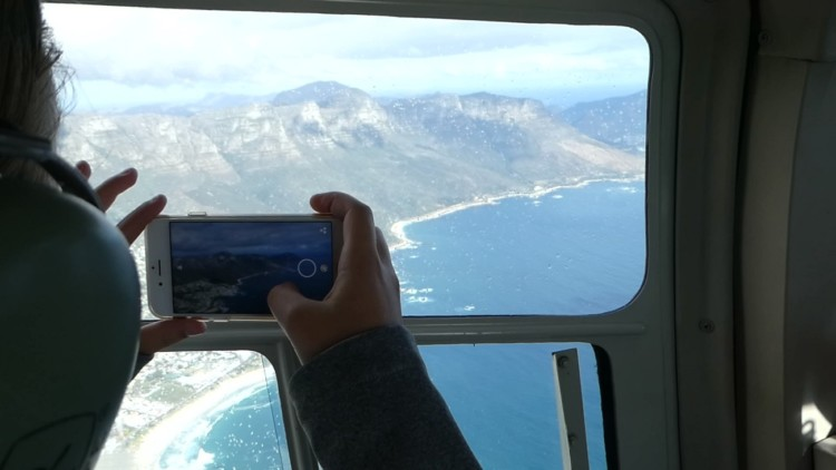 Things to do with kids in Cape Town, South Africa: Helicopter tour