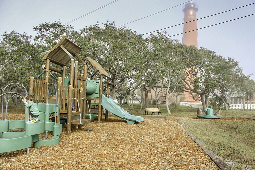 The park in Ponce Inlet by the Lighthouse is 1 of 7 Best Family Friendly Things to do in Daytona Beach