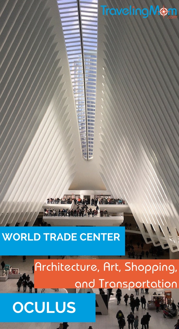 Travel to the World Trade Center Oculus, where transportation, architecture, shopping and food come together.